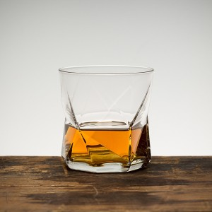 Faceted whisky glass