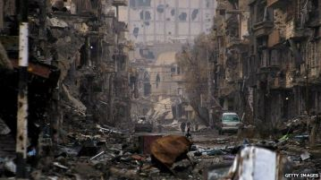 war ravaged city